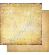 Бумага для скрапбукинга двусторонняя, коллекция Медовый пунш, лист 006