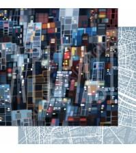 Бумага для скрапбукинга двусторонняя, коллекция GOрод GOворит, 30.5х30.5 см плотность 190г/м, лист Они большого города