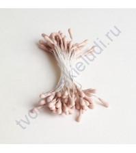 Тычинки матовые двусторонние 60х1.5 мм, 50 шт, цвет пепельно-розовый
