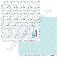 Бумага для скрапбукинга двусторонняя коллекция Будешь моим пингвинчиком?, 30.5х30.5 см, 190 гр/м, лист 4