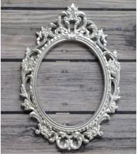 Металлическая рамка Барокко, цвет серебро