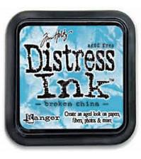 Штемпельная подушечка Tim Holtz Distress на водной основе, 5х5 см, цвет разбитый фарфор (broken china)