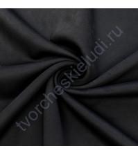 Искусственная замша двусторонняя, плотность 310 г/м2, размер 50х37 см (+/- 2см), цвет черный