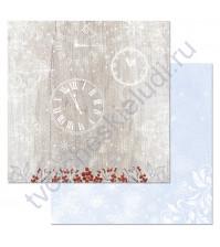 Бумага для скрапбукинга двусторонняя коллекция Снежная клюква, 30.5х30.5 см, 180 гр/м, лист Время волшебства