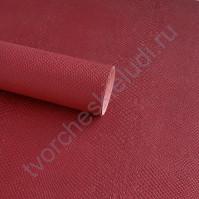 Кожзам переплетный с тиснением Питон, плотность 255 гр/м2, 70х25 см, цвет темно-красный