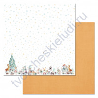 Бумага для скрапбукинга двусторонняя коллекция Этника новогодняя, 30.5х30.5 см, 180 гр/м, лист Подарки