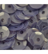 Пайетки круглые с матовым эффектом 6 мм, 10 гр, цвет серо-фиолетовый