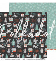 Бумага для скрапбукинга двусторонняя 30.5х30.5 см, 190 гр/м, коллекция Новый кот, лист Сорванец