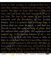Бумага для скрапбукинга односторонняя с золотым тиснением 30.5х30.5 см, 190 гр/м, коллекция Every Day Gold, лист Golden Script Black