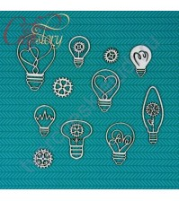 Набор Чипборда Лампочки, 11 элементов