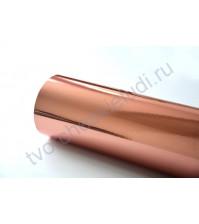 Термотрансферная пленка металлик стрейч, цвет зеркальный розовый, 25х25 см (+/- 1 см)