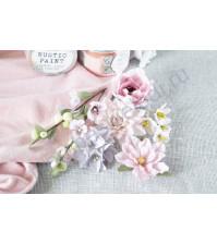 Цветы ручной работы из ткани Цветочный блюз, розовый
