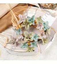 Цветы ручной работы из ткани Бархатная осень. Гортензии, 18 шт, цвет магия осени