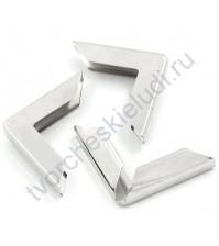 Уголок металлический для альбомов и блокнотов 30х30х6 мм, цвет серебро, 1 штука