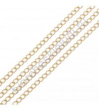 Цепочка декоративная 1.5х2.5 мм, цвет золото, 1 метр