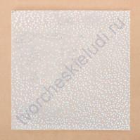 Калька декоративная с фольгированием Серебряная роса, 30.5х30.5 см, плотность 80 гр/м2
