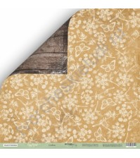 Бумага для скрапбукинга двусторонняя 30.5х30.5 см, 200 гр/м, коллекция Cozy Forest, лист Стебли