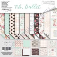Набор двусторонней бумаги Oh, Ballet, 30.5х30.5 см, 190 гр/м, 11 листов