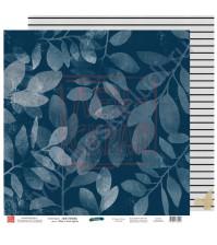 Бумага для скрапбукинга двусторонняя, 30.5х30.5 см, плотность 190 гр/м2, коллекция Вне рамок, лист Мир в твоих руках