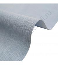 Кожзам переплетный с тиснением под холст на полиуретановой основе плотность 230 гр/м2, 50х70 см, цвет F352-голубой