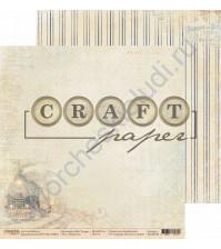 Бумага для скрапбукинга двусторонняя коллекция Bon Voyage, 30.5х30.5 см, 190 гр/м, лист Попутчик