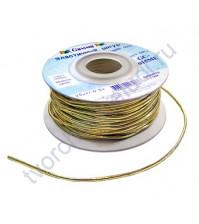 Шнур эластичный метализированный (резинка) 1.5 мм, цвет золото