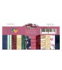 Набор бумаги Магнолия, 20.3х20.3 см, 250 гр/м, 12 двусторонних листов (цена указана за 1/2 часть набора, 6 листов)