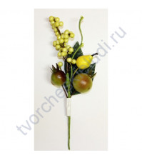 Букетик декоративный с грушами, длина 20 см