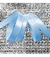 Лента атласная 12 мм, цвет насыщенный голубой, 1 метр