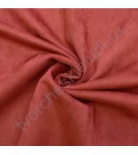 Искусственная замша Suede, плотность 230 г/м2, размер 50х35 см (+/- 2см), цвет брусничный