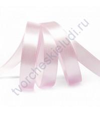Лента атласная, 12мм, цв. бледно-фиолетовый-3112, 1м