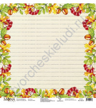 Бумага для скрапбукинга односторонняя School, 30.5х30.5 см, 190 гр/м, лист Линии