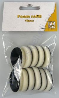 Запасные круглые насадки из пенки для аппликатора круглого деревянного для нанесения чернил, упаковка 10 шт.