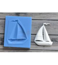 Форма силиконовая (молд) для полимерной глины, Детский кораблик