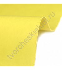 Кожзам переплетный на полиуретановой основе плотность 230 гр/м2, 50х35 см, цвет E282 - солнечный желтый