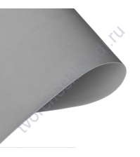 Кожзам переплетный на полиуретановой основе плотность 230 гр/м2, 50х70 см, цвет D519 светло-серый