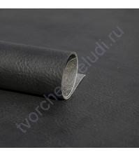 Кожзам переплетный с тиснением под мятую кожу Мантуя, плотность 255 гр/м2, 70х50 см, цвет черный