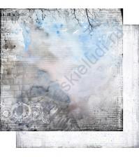 Бумага для скрапбукинга двусторонняя, коллекция Городская симфония, лист 006