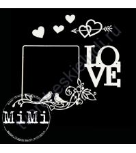 Набор чипборда Сердце, коллекция Валентин, размер 7.5х10 см