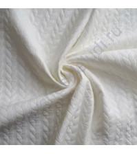 Кожзам на трикотажной основе Косичка 50х70 см, 100% полиэстер, цвет молочный