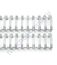 Пружинка для брошюровки, диам. 19 мм (3/4 дюйма), цвет серебро