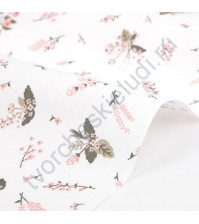 Ткань для рукоделия Little bride baby flower, 100% хлопок, плотность 120 гр/м2, размер 45х55 см