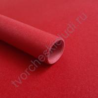 Кожзам переплетный на полиуретановой основе с фактурой глиттерплотность 280 гр/м2, 50х70 см, цвет 7809-красный