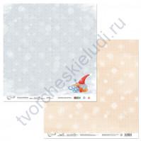 Бумага для скрапбукинга двусторонняя коллекция Новогодние хлопоты, 30.5х30.5 см, 190 гр/м, лист 4