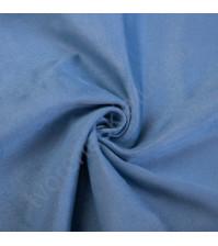 Искусственная замша Suede, плотность 230 г/м2, размер 50х70см (+/- 2см), цвет темный голубой
