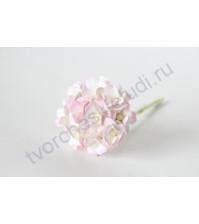 Цветы вишни средние 1.5 см, 10 шт, цвет светло-розовый+белый