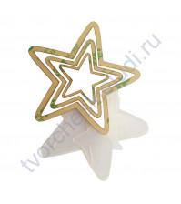 Набор шейкеров Звезда острые лучи, 3 элемента, толщ. 3 мм, цвет прозрачный