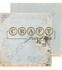 Бумага для скрапбукинга двусторонняя коллекция Джентльмен, 30.5х30.5 см, 190 гр/м, лист Погожий день