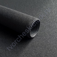 Кожзам переплетный на полиуретановой основе с фактурой глиттер, плотность 280 гр/м2, 35х50 см, цвет 7807-черный