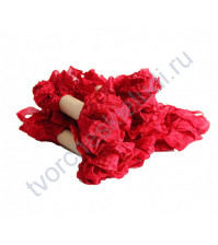 Шебби-лента мятая, Красная смородина, ширина 14мм, 1м